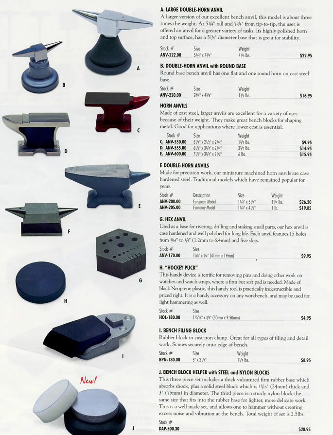 Double Horn Anvils Hex Anvil Quot Hockey Puck Quot Bench Filing